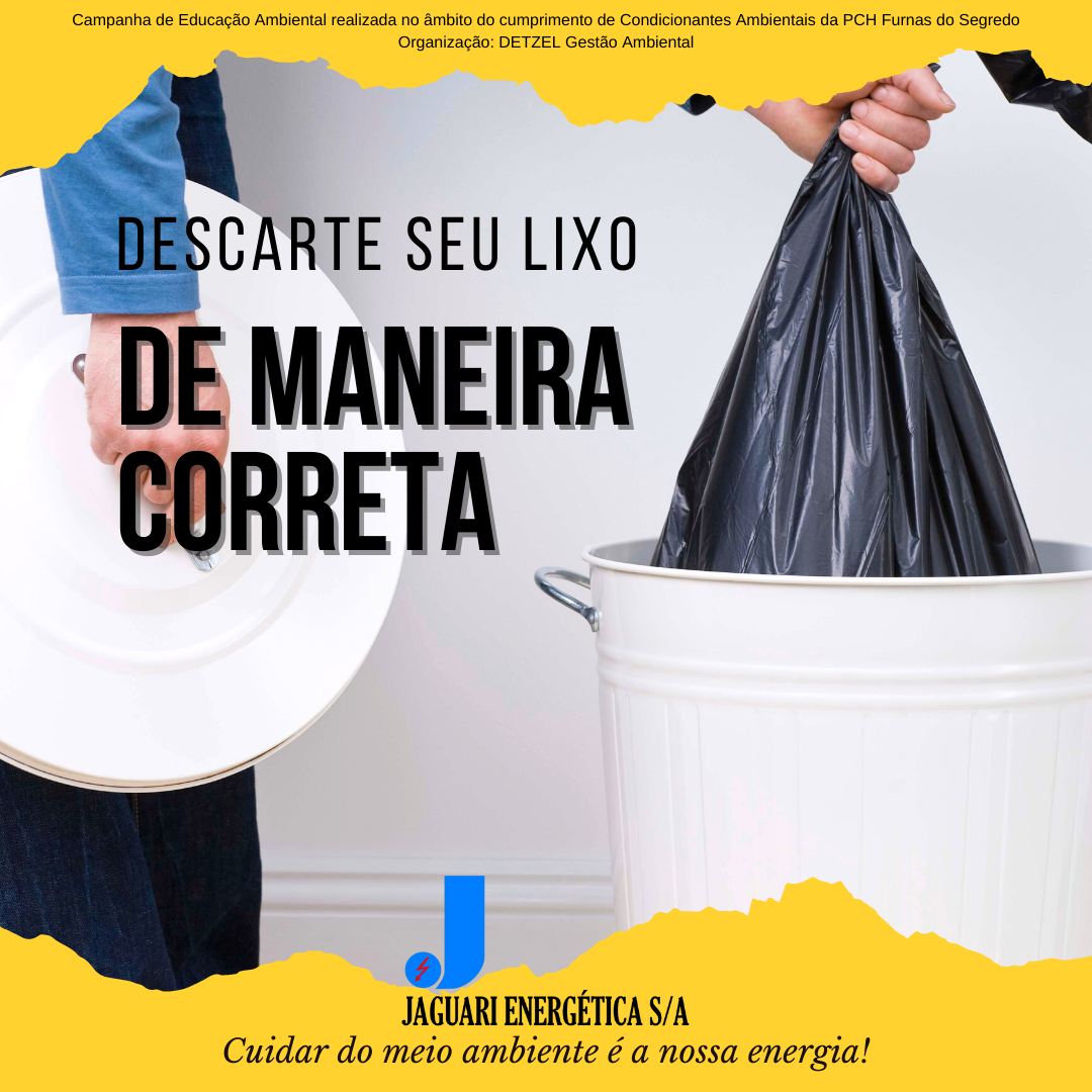 Notícia sobre Descarte seu lixo de maneira correta