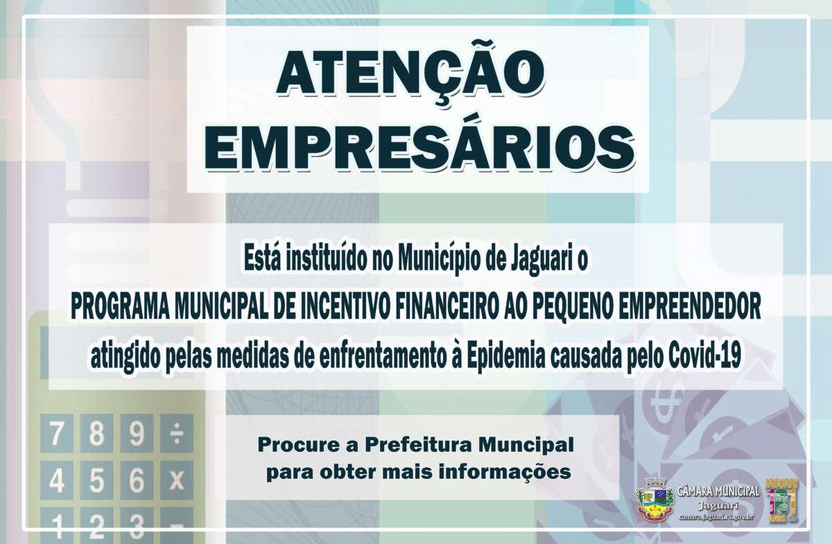 Notícia sobre ATENÇÃO EMPRESÁRIOS!
